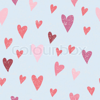 seamless vector pattern with hearts for valentines day
