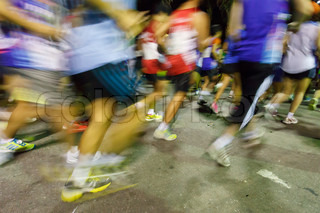 Runners running in marathon compettition