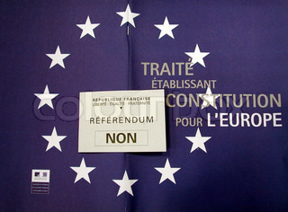 Note of referendum for bill approval in the European constitution