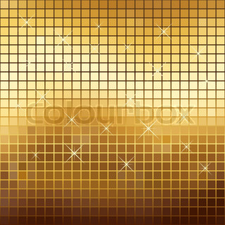 Abstract gold colored sparkling mosaic background.