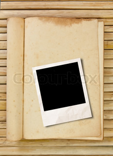 photo frame with book