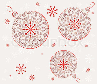 Retro Christmas balls Vector