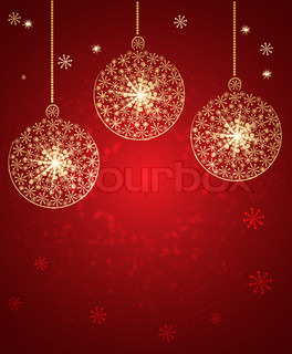 Christmas toys made with snow Vector Background