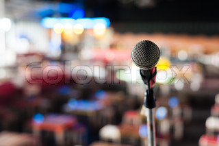 Microphone on stage in club