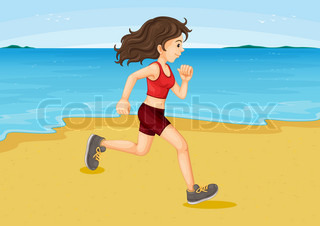 Vector of 'running, train, jog'