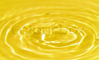 Macro of a water droplet and ripples