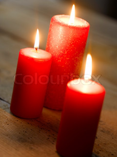 Red candlelights