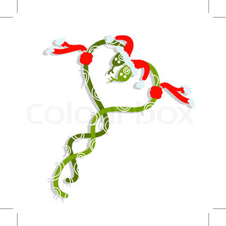 Couple of santa snakes, symbol of chinese new year 2013