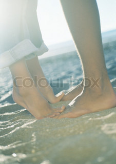 Image of 'feet, sea, summer'