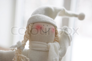 Doll used for Christmas decoration