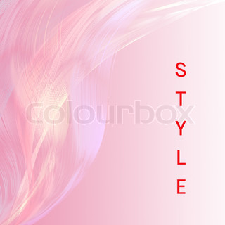 Style wordingwith pink line attractive background