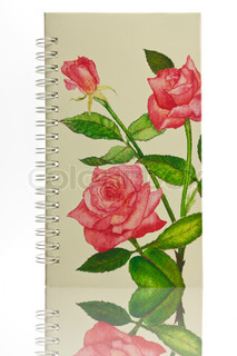 Cover notebook with rose pattern
