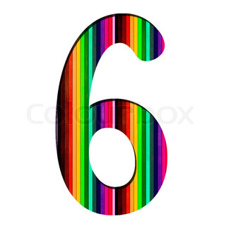 Number made from colorful numbers   Stock Photo   Colourbox