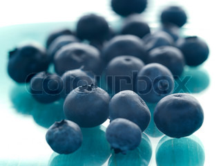 Close up of a bunch of fresh blueberries used as a background