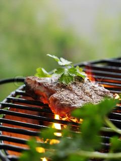 Bild von 'grillen, fleisch, beefsteak'