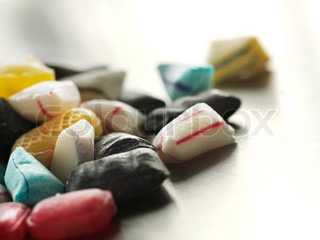 Close up image of candies