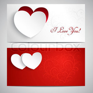 Postcards with hearts