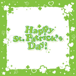 Saint Patrick 39 S Postcard With Text In A Decorative Frame