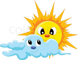 sun and cloud cartoon