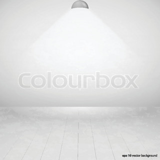 the light and empty interior of a living room in a bright sunny