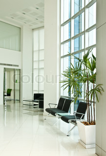 Inside of modern office building