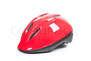 Bicycle Helmets on a white background