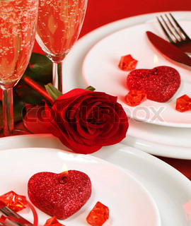 Valentine day table setting