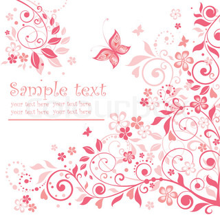 Greeting floral pink card