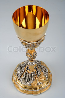 Communion Chalice on White Background