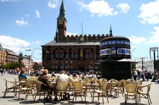 Billede af 'københavn, rådhus, cafe'