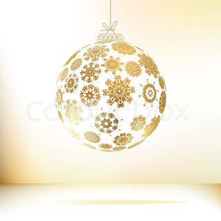 Christmas ball made from snowflakes + EPS8