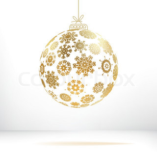 Christmas ball made from snowflakes+ EPS8