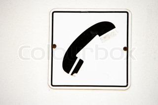 Skilt der fortæller noget omg telefoner