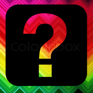 question spectrum wave glowing background