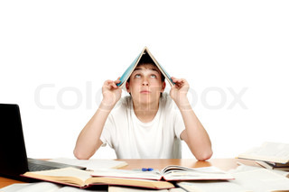 Student Cover His Head