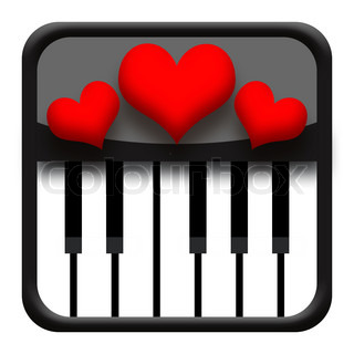 Piano and hearts