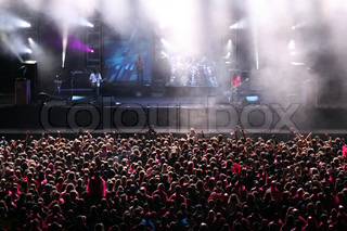 Image of 'crowd, concert, stage'