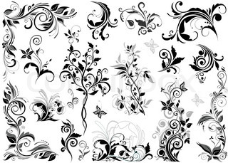 elegant floral design stock vector colourbox