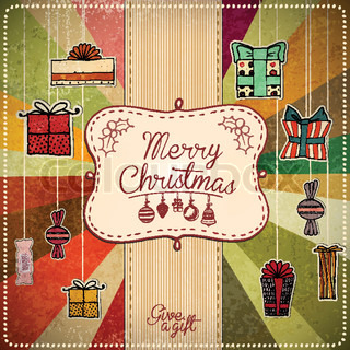 Colorful Decorative Christmas Card