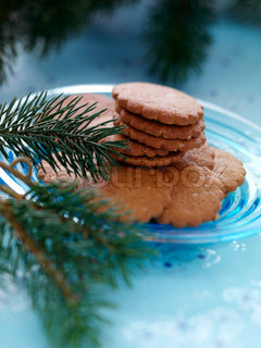 Traditional danish Christmas cookies on a plate
