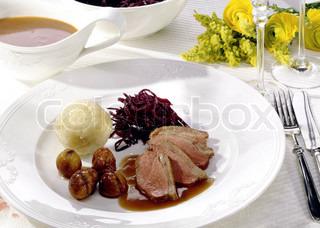 Image of 'dinner, christmas dinner, duck breast'