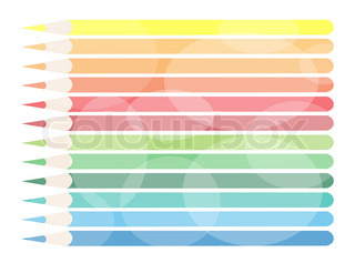 An Illustration of Colorful Colored Pencils Background