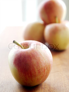 Close up image of red apples