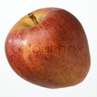 Enkelt nærbillede af et rødt æble