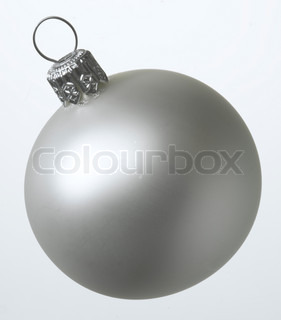 Close up image of Christmas decoration in silver