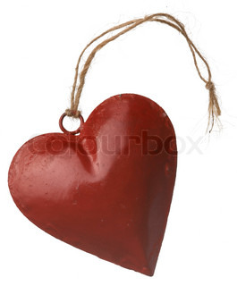 Christmas decoration - a red heart