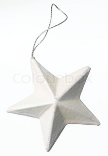 Close up image of Christmas decoration - a white star