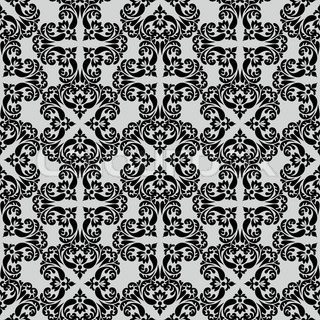 Weinlese- schönen Hintergrund mit reichen , im alten Stil , Farbe schwarz , Luxus Ornamentik, fashioned nahtlose Muster, royal vector wallpaper , floral, ältesten Stil swatch Stoff für Dekoration und Design