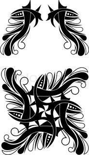 Elegant Black-white Tribal Tattoo Design