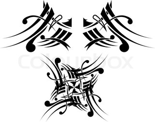 Black-white Tribal Tattoo Design